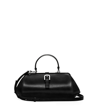 Brackley Medium Leather Satchel - BLACK - 31F5SBDE2L