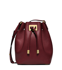 Miranda Medium Leather Messenger - CLARET - 31T5GMDM2L