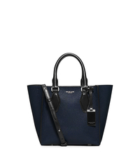 Gracie Small Leather Tote - NAVY/BLACK - 31F5PGRT1U