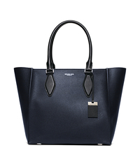 Gracie Large Leather Tote - NAVY/BLACK - 31F5PGRT3U