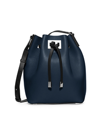 Miranda Medium Leather Messenger - NAVY/BLACK - 31F5PMDM2L