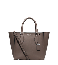 Gracie Medium Leather Tote - ELEPHANT - 31F5MGRT2L