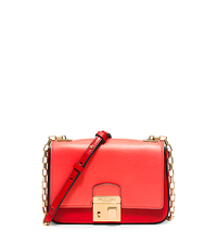 Gia Small Leather Shoulder Bag - CORAL - 31H5GGAX1T