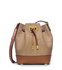 Miranda Medium Woven Crossbody - LUGGAGE - 31H5GMDM2B