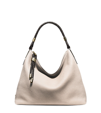 Skorpios Large Leather Shoulder Bag - VANILLA - 31H5GSKL7L
