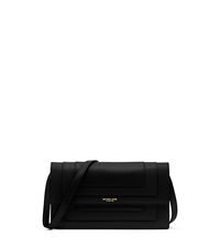 Surrey Runway Medium Leather Clutch - BLACK - 31H5GSRC2L