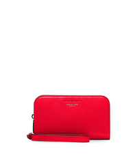 Celeste Leather Continental Wristlet - CORAL - 37H5PCEW1L