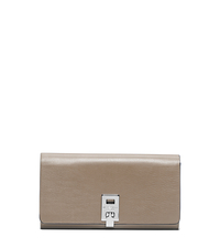 Miranda Leather Continental Wallet - DARK TAUPE - 37S5PMDE2L