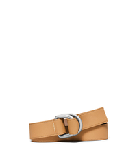 Double-Ring Leather Belt - PEANUT - 31S6PBLA2L