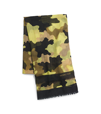 Kala Camouflage Modal and Silk-Blend Scarf - LEMON - 29536314