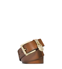 Charm Keeper Leather Belt - LUGGAGE - 29553391
