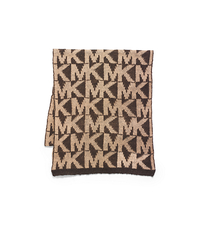 Studded Logo Scarf - CHOCOLATE - 29536168