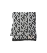 Studded Logo Scarf - GREY - 29536168