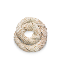 Fisherman-Stitch Infinity Scarf - OATMEAL - 29536165