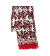 Paisley-Print Modal and Silk Scarf - GRENADINE - 536361