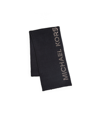 HEAT SEAL STUDDED LOGO SCARF - BLACK - 536437