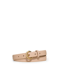 Saffiano Leather Belt - BLUSH - 553523