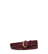 Saffiano Leather Belt - MERLOT - 553523