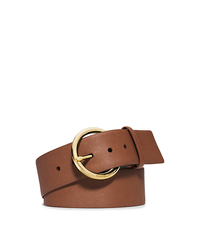 Saffiano Leather Belt - LUGGAGE - 553524