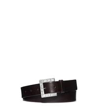 Jeweled Buckle Belt - CHOCOLATE - 554533
