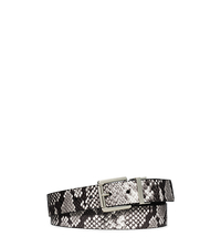 Reversible Leather Belt - NATURAL - 554550