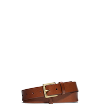 Leather Belt - LUGGAGE - 551684