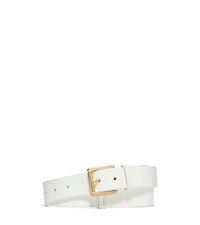 Leather Belt - WHITE - 551684