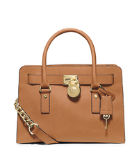 Hamilton Large Saffiano Leather Satchel - PEANUT - 30F4GHMS7T