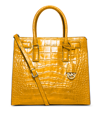 Dillon Large Embossed-Leather Tote - SUN - 30H4GAIT3E