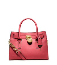 Hamilton Saffiano Leather Medium Satchel - WATERMELON - 30S2GHMS3L