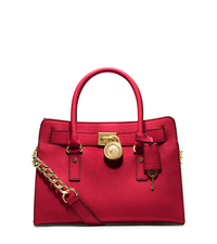 Hamilton Saffiano Leather Medium Satchel - CHILI - 30S2GHMS3L