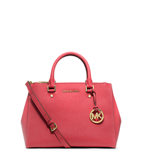 Sutton Medium Saffiano Leather Satchel - WATERMELON - 30S4GTVS6L