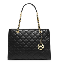 Susannah Large Quilted-Leather Tote - BLACK - 30S5GAHT3L
