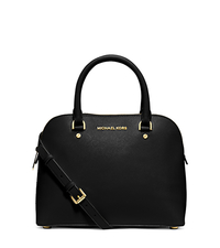 Cindy Medium Saffiano Leather Satchel - BLACK - 30S5GCPS2L