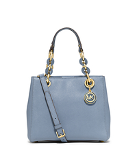 Cynthia Small Leather Satchel - PALE BLUE - 30S5GCYS1L