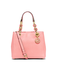 Cynthia Small Leather Satchel - PALE PINK - 30S5GCYS1L