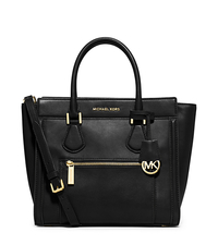 Colette Large Leather Satchel - BLACK - 30S5GCZS2L
