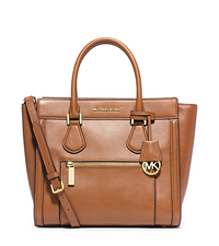 Colette Large Leather Satchel - PEANUT - 30S5GCZS2L
