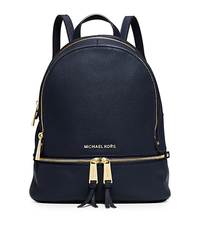 Rhea Small Leather Backpack - NAVY - 30S5GEZB1L