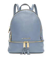 Rhea Small Leather Backpack - PALE BLUE - 30S5GEZB1L