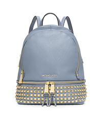 Rhea Small Studded Leather Backpack - PALE BLUE - 30S5GEZB5L