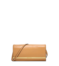 Lana Leather Clutch - PEANUT - 30S5GKYC1L