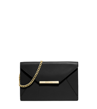 Lana Leather Envelope Clutch - BLACK - 30S5GKYC6L