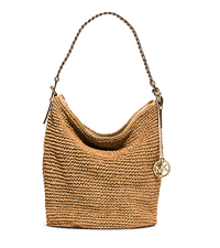 Lola Large Raffia Shoulder Bag - NATURAL/GOLD - 30S5GLVL3W