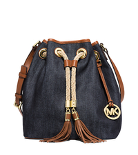 Marina Large Denim Shoulder Bag - ONE COLOR - 30S5GMAL3C
