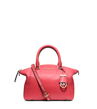 Riley Small Pebbled-Leather Satchel - WATERMELON - 30S5GRLS1L
