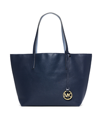 Izzy Large Leather Tote - NAVY/PALE BLUE - 30S5GZYT7U