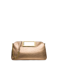 Berkley Large Metallic Leather Clutch - ONE COLOR - 30S5MBKC3M