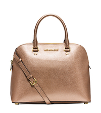 Cindy Large Metallic Saffiano Leather Satchel - ONE COLOR - 30S5MCPS3M