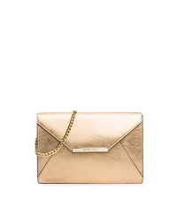 Lana Leather Envelope Clutch - PALE GOLD - 30S5MKYC2M